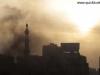 Smoke billows over protests
