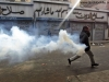 tear gas egyptian protester