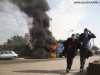 Egyptian protesters flee