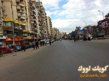 إغلاق شارع الجمهورية أثناء إقتحام الداخلية الحرم الجامعي ب #المنصورة