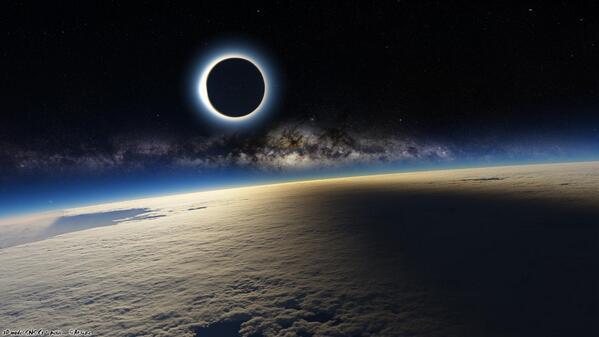 صور ظاهرة كسوف الشمس في بعص الدول eclipse2015