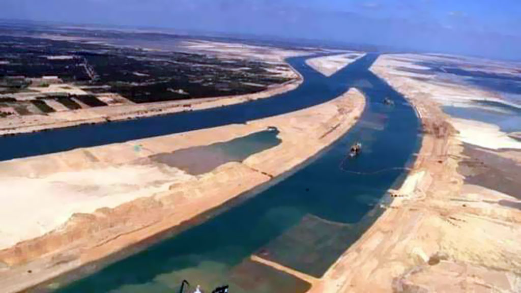 New Suez Canal on Google Earth