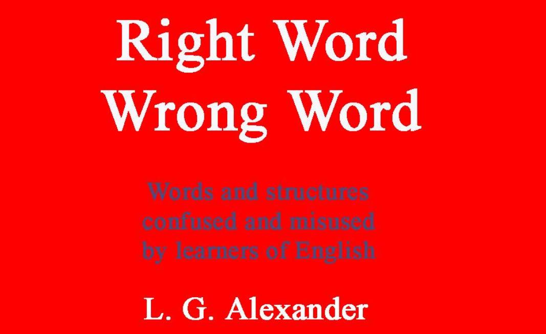 كتاب توضيح الصعوبات بين الكلمات الانجليزية
