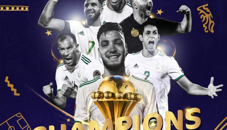 أرض التاريخ تعلن الجزائر بطلا للسمراء صاحبة الفخامة