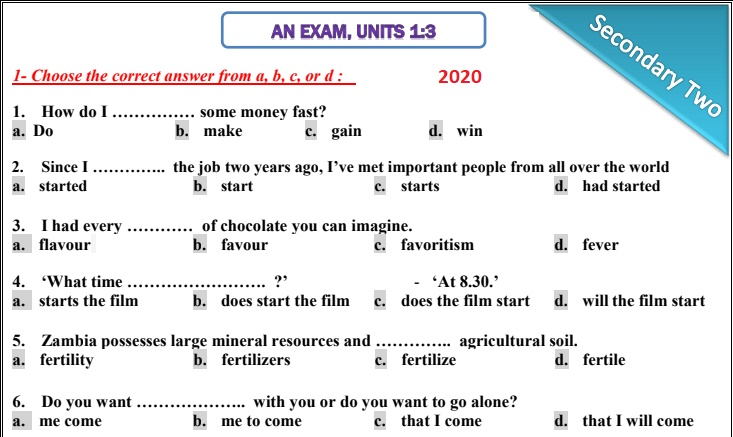 2nd-year2020-exam-units1-3