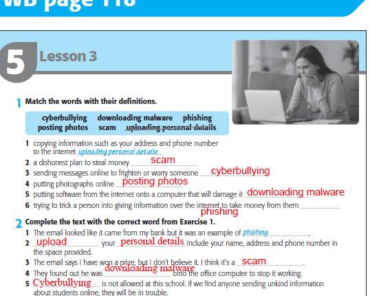 اجابات وشرح unit 5 اولى ثانوى كتاب الطالب وورك بوك
