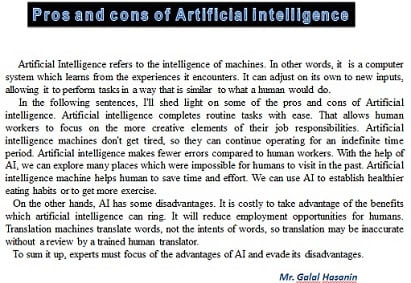 Artificial-intelligent
