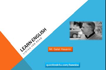 تعليم الانجليزية من خلال الاستماع والنطق حلقة 1