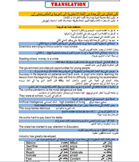 قاموس مستر جلال حسانين لترجمات الثانوية العامة 2022